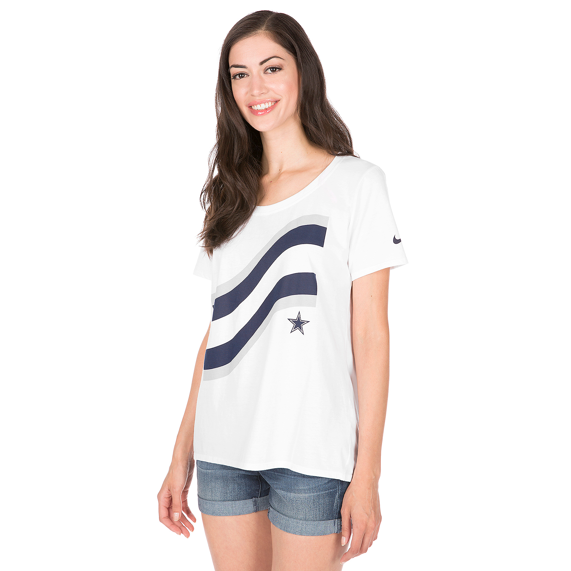 Dallas Cowboys Nike Flag Scoop Tee  77f7396e6
