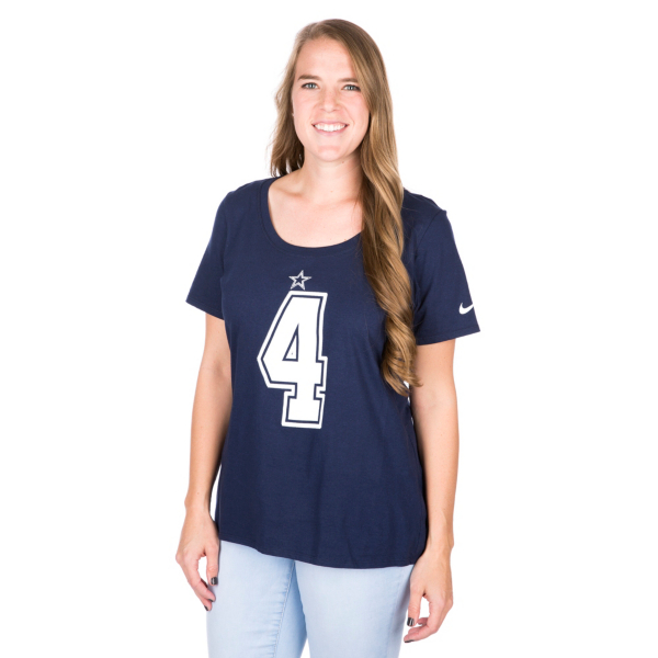 Dallas Cowboys Womens Dak Prescott #4 Nike Player Pride 2 Tee