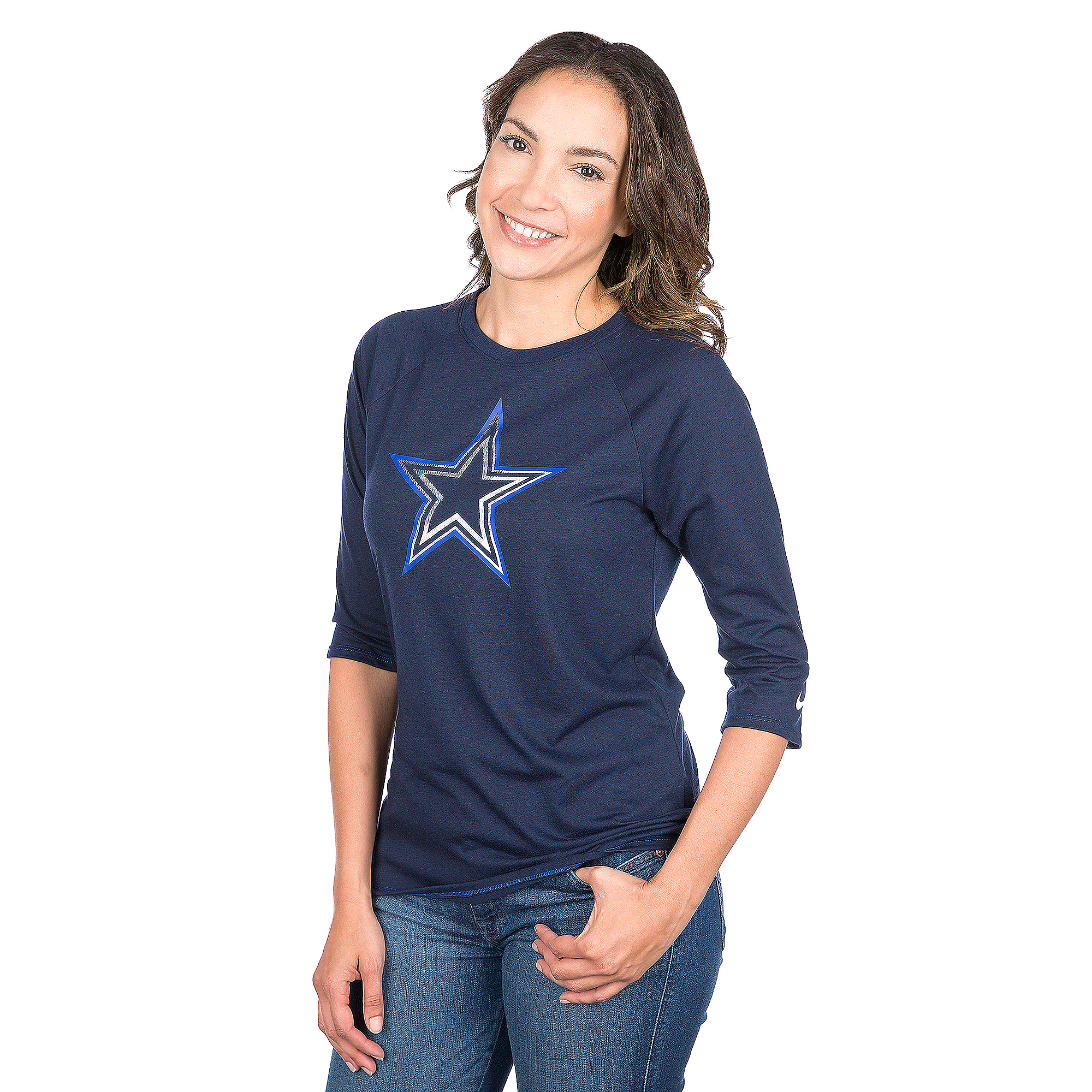 Dallas Cowboys Nike Driblend Raglan Tee