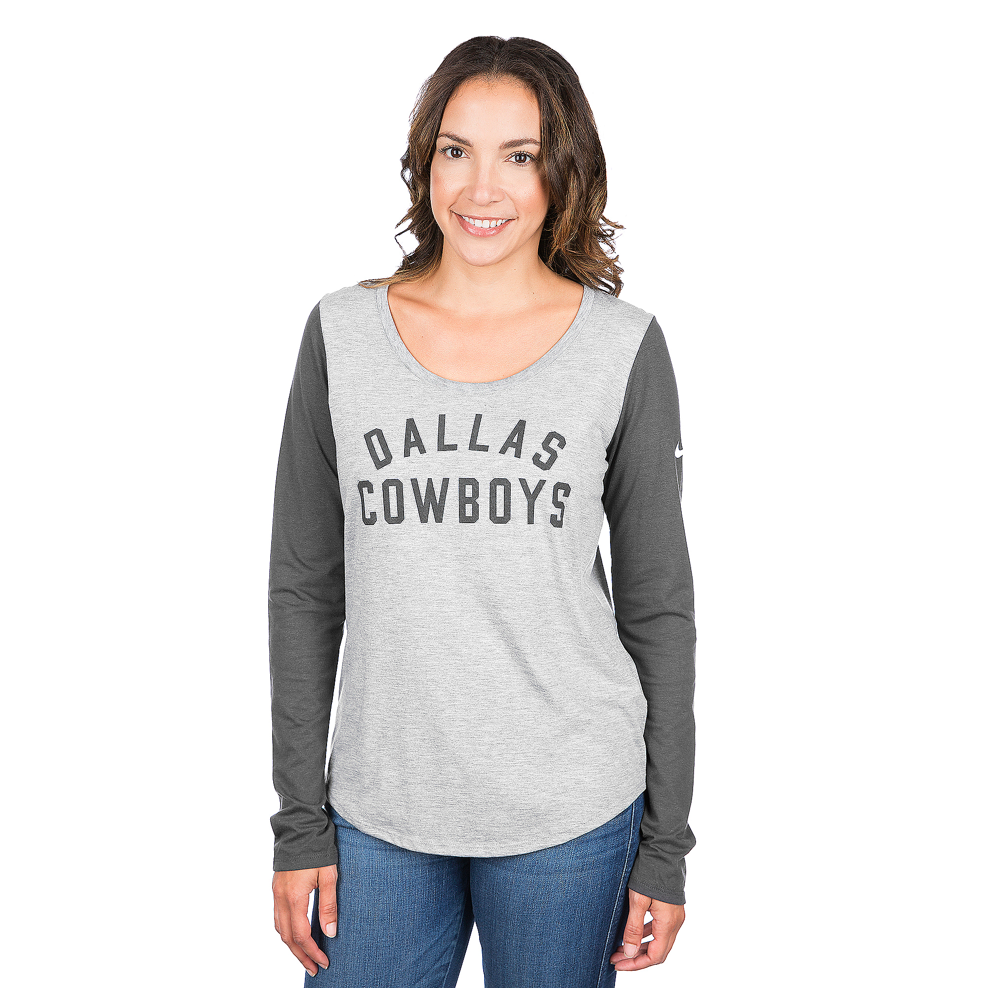 Dallas Cowboys Nike Marled Arch Long Sleeve Tee