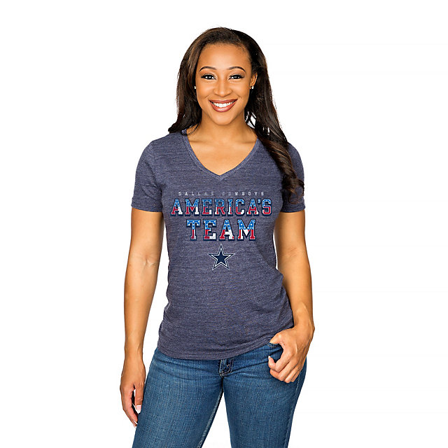 Dallas Cowboys Womens America's Pride Tee