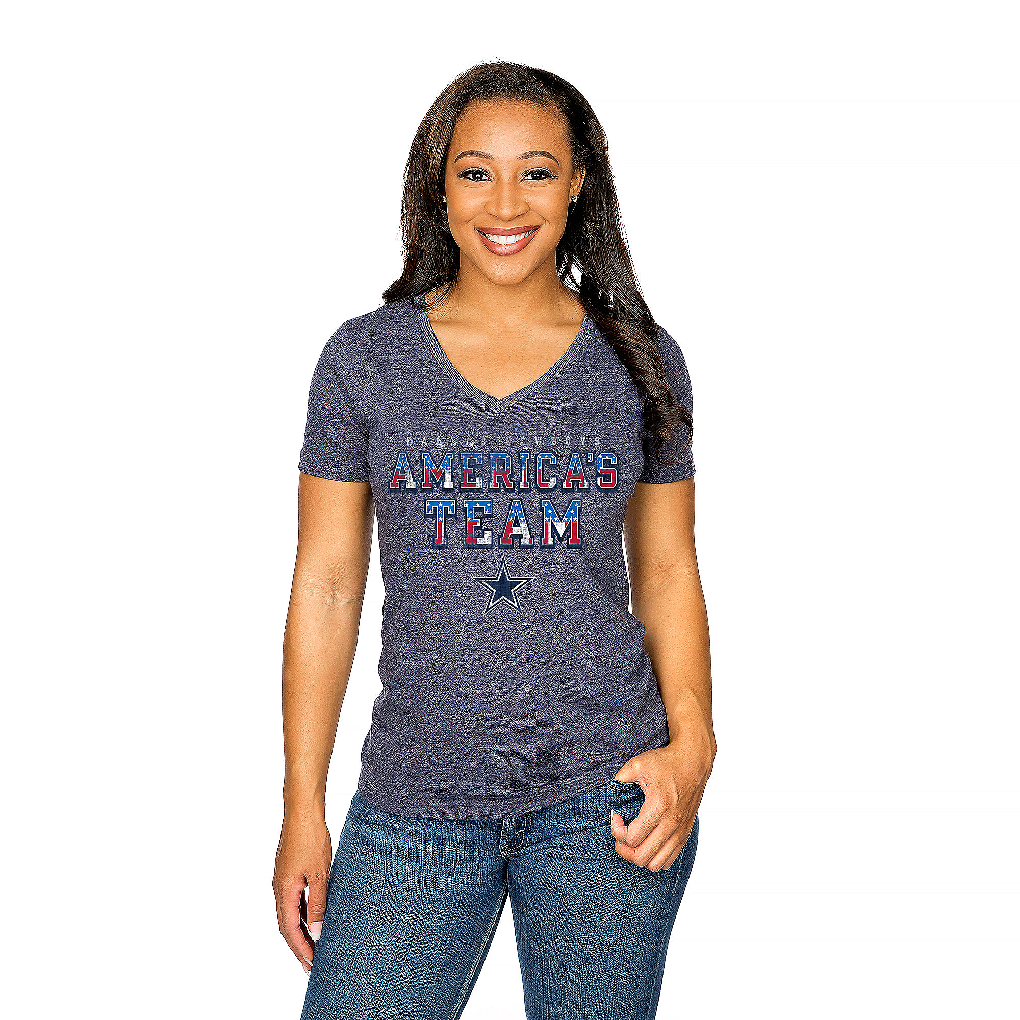 Dallas Cowboys Womens America's Pride Tee