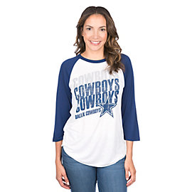 Dallas Cowboys Mitchell & Ness Repeat Raglan Tee