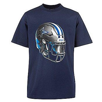 Dallas Cowboys Youth Stealth Helmet Short Sleeve Tee