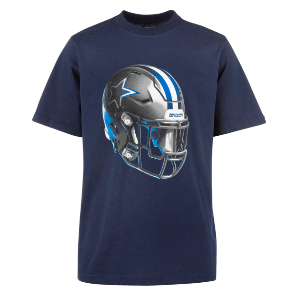 Dallas Cowboys Youth Stealth Helmet Short Sleeve Tee