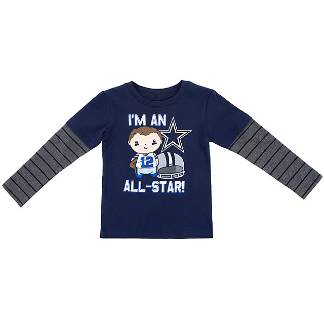 Dallas Cowboys Toddler Frank Long Sleeve Tee