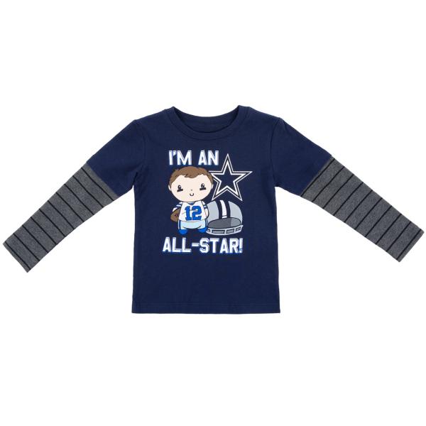 Dallas Cowboys Toddler Frank Long Sleeve Tee