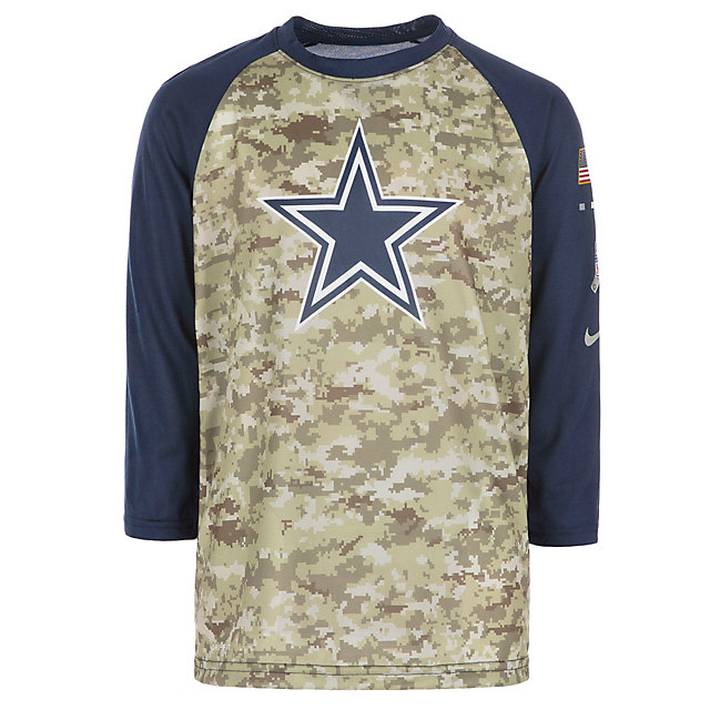 new style b007b 02f46 Dallas Cowboys Nike Youth Salute to Service Raglan Tee ...