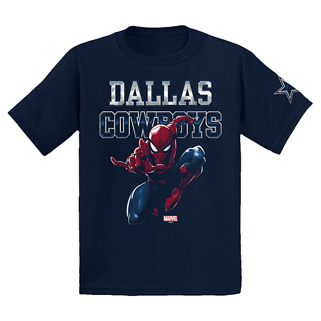 Dallas Cowboys MARVEL Youth Spidey Fearless Tee
