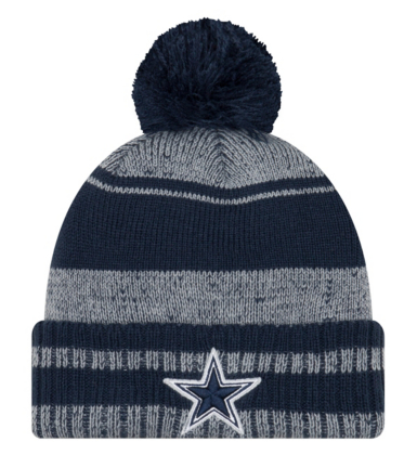f831b51ebf9ab Dallas Cowboys New Era Glacial Pom Knit Hat