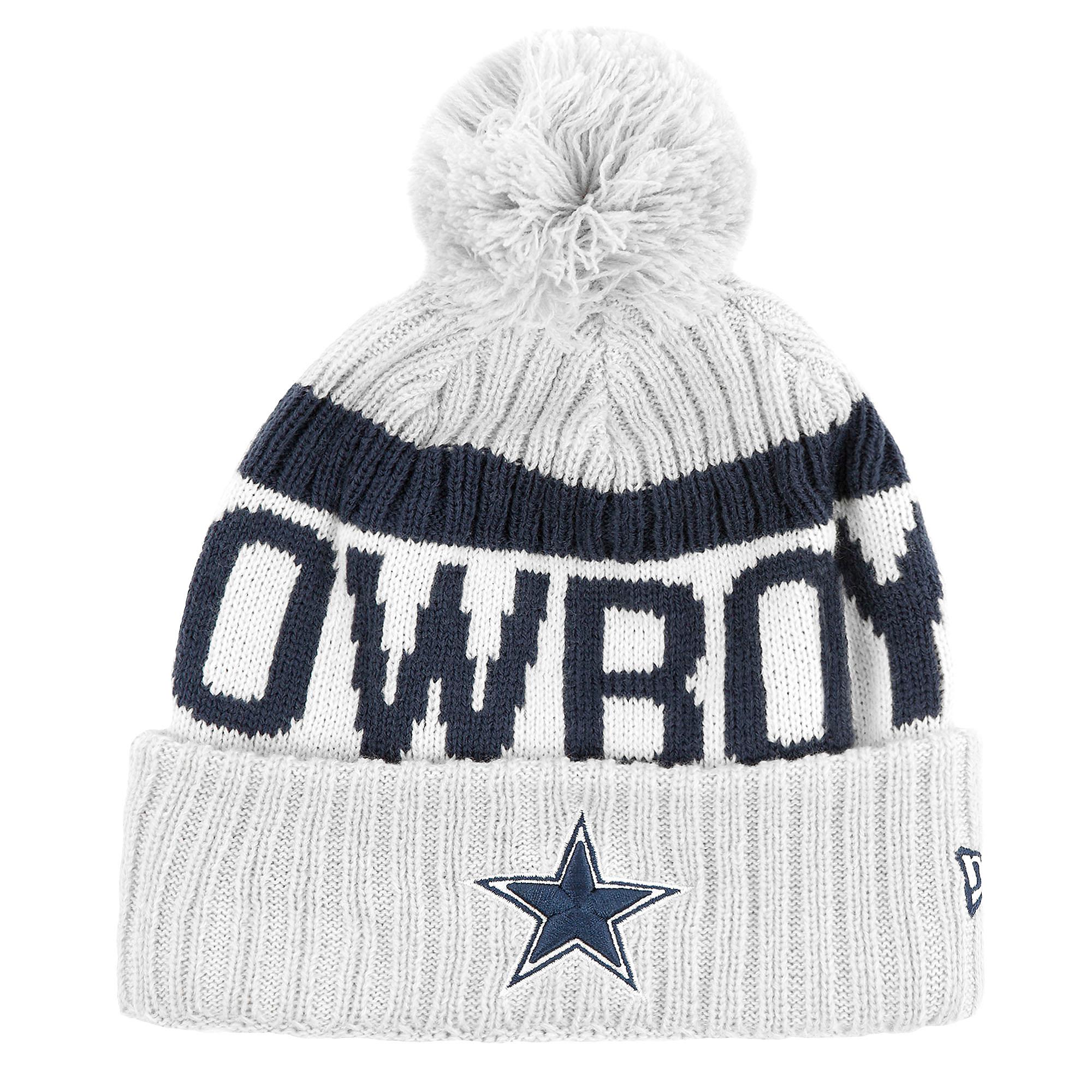 Dallas Cowboys New Era Sideline Fan Gear Sport Knit Hat  d870d5a34