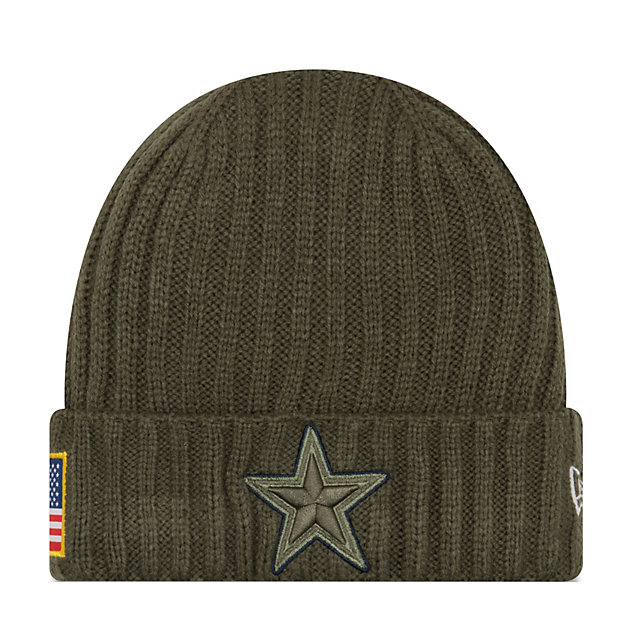 Dallas Cowboys New Era Salute to Service On Field Knit Hat