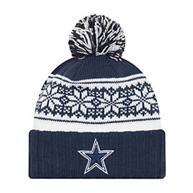 Dallas Cowboys New Era Snowy Pom Knit Hat