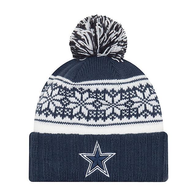 Dallas Cowboys New Era Snowy Pom Knit Hat