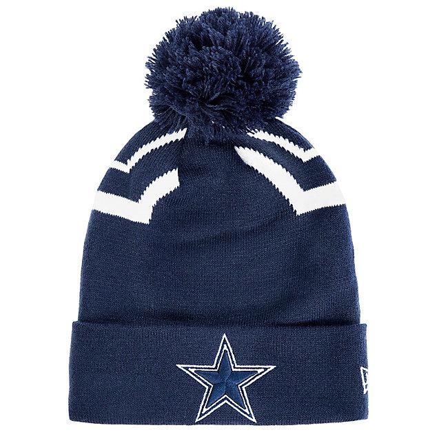 Dallas Cowboys New Era Jr Pom Team Pride Knit Hat