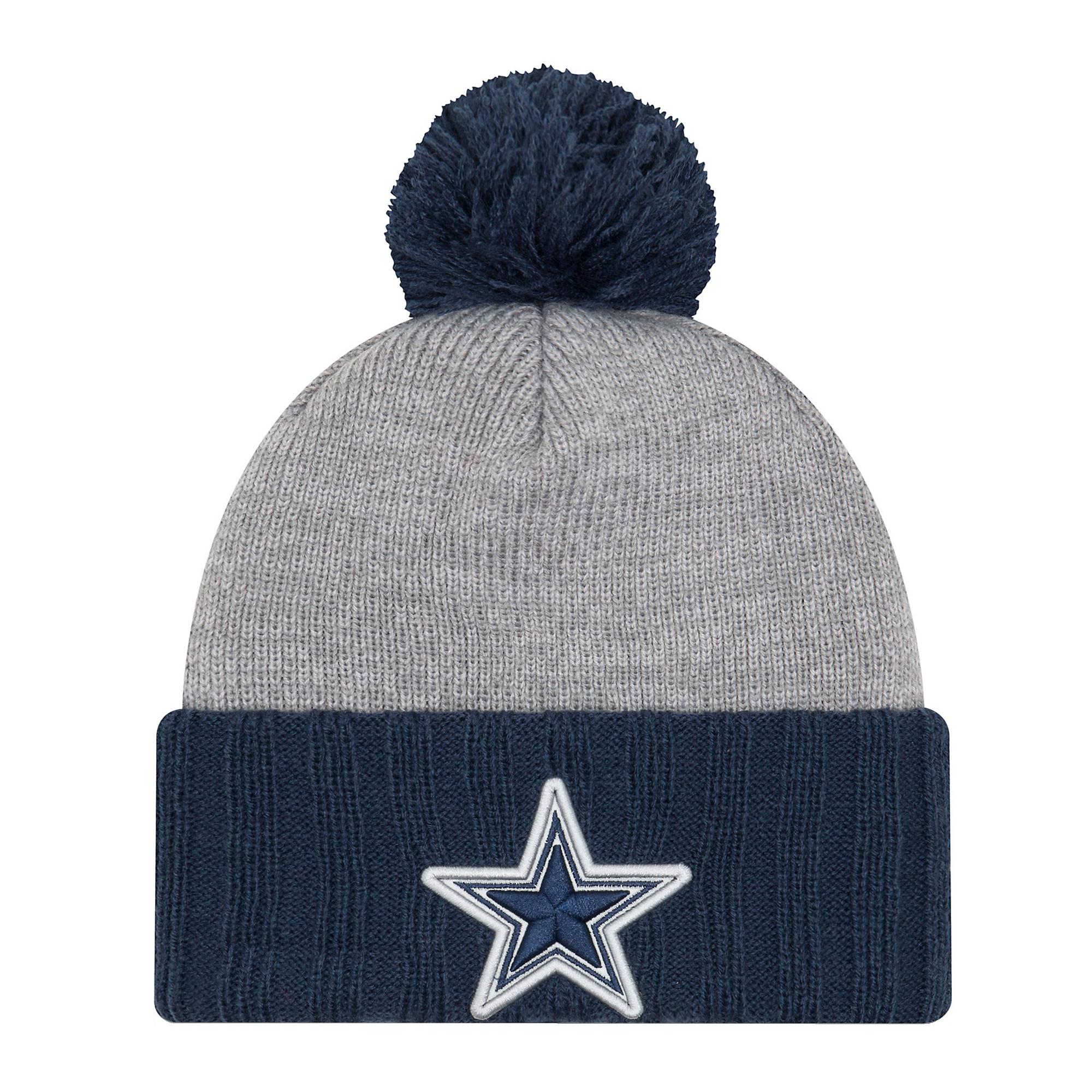 Dallas Cowboys New Era Jr Flected Frost Knit Hat