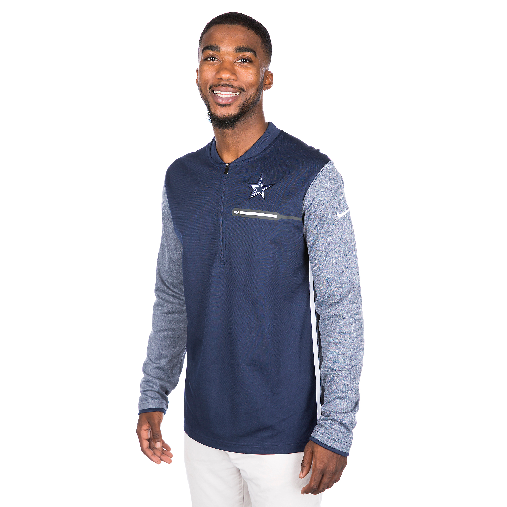 Dallas Cowboys Nike Coach Half-Zip Top