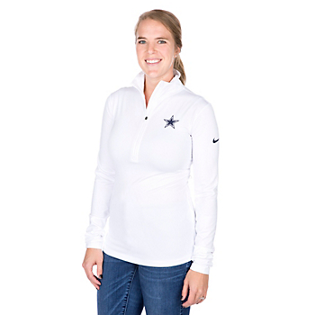 Dallas Cowboys Nike Pro Warm Half Zip Pullover