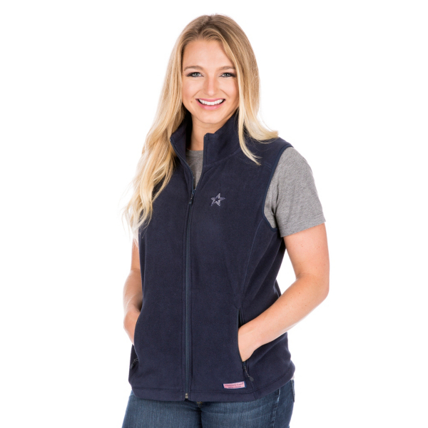 Dallas Cowboys Vineyard Vines Womens Westerly Vest