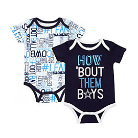Dallas Cowboys Infant Emerson 2 Pack Bodysuit Set