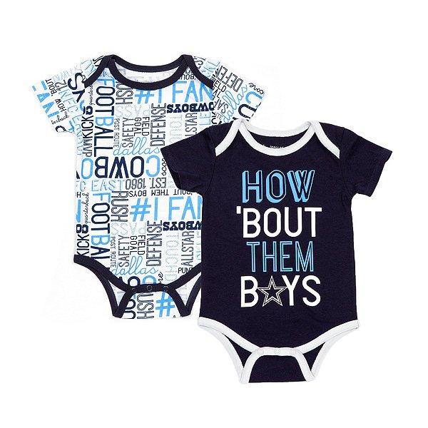 Dallas Cowboys Infant Emerson 2-Pack Bodysuit Set