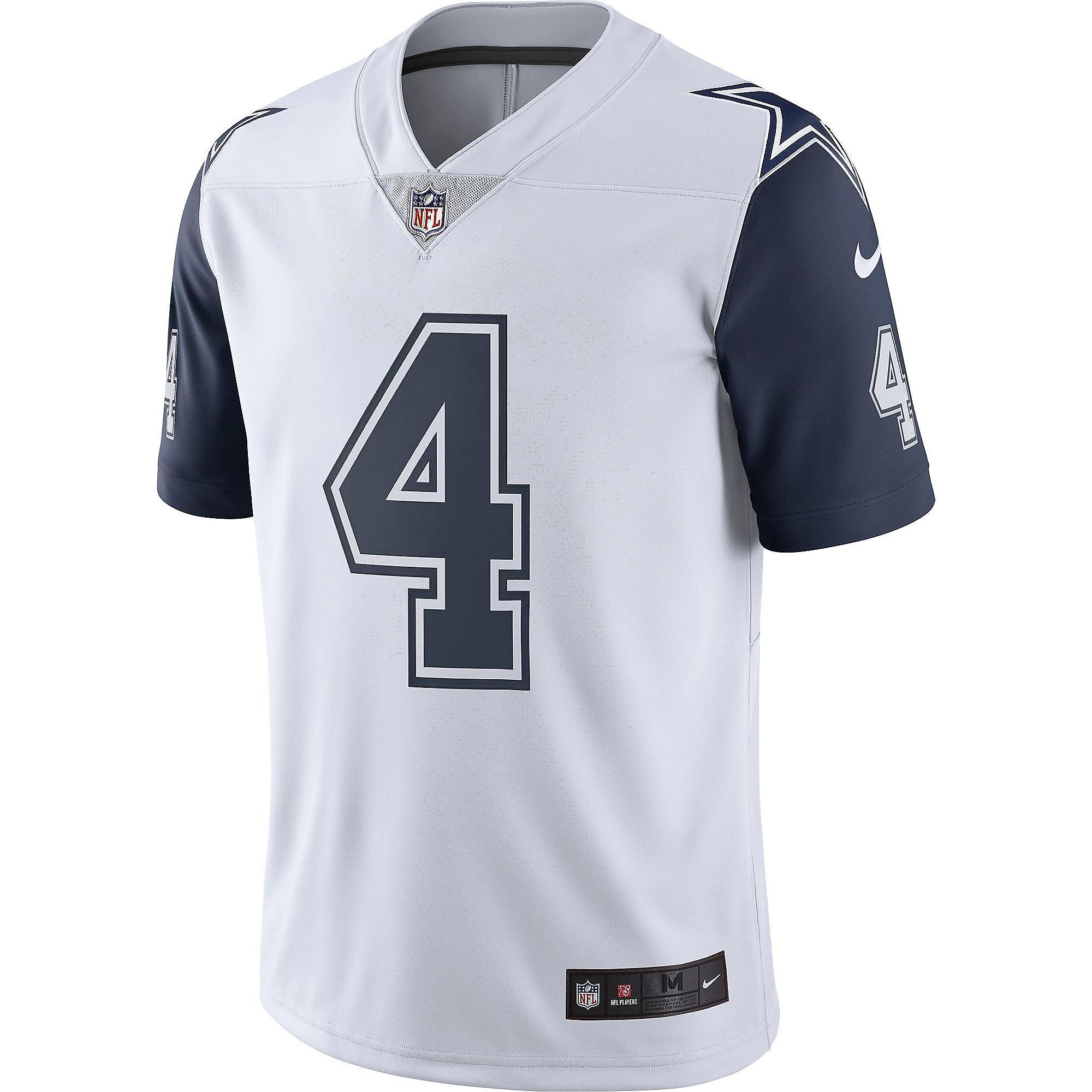 Dallas Cowboys Dak Prescott #4 Nike Limited Color Rush Jersey ...
