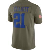 Dallas Cowboys Ezekiel Elliott #21 Nike Limited Salute To Service Jersey