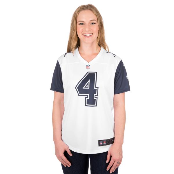 Dallas Cowboys Womens Dak Prescott #4 Nike XC2 Color Rush Tee