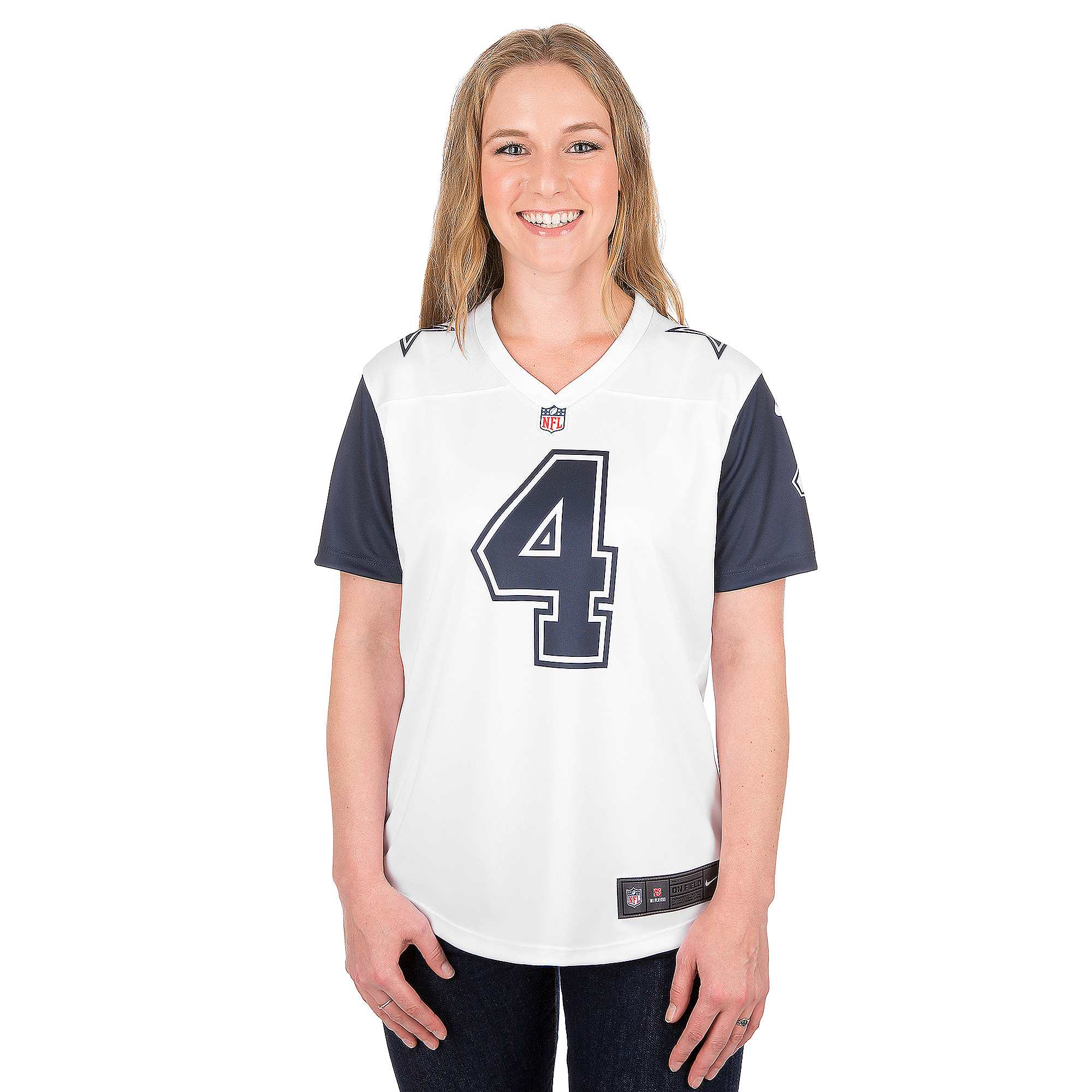 Dallas Cowboys Womens Dak Prescott #4 Nike XC2 Color Rush Tee