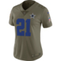 Dallas Cowboys Womens Ezekiel Elliott #21 Nike Limited Salute To Service Jersey