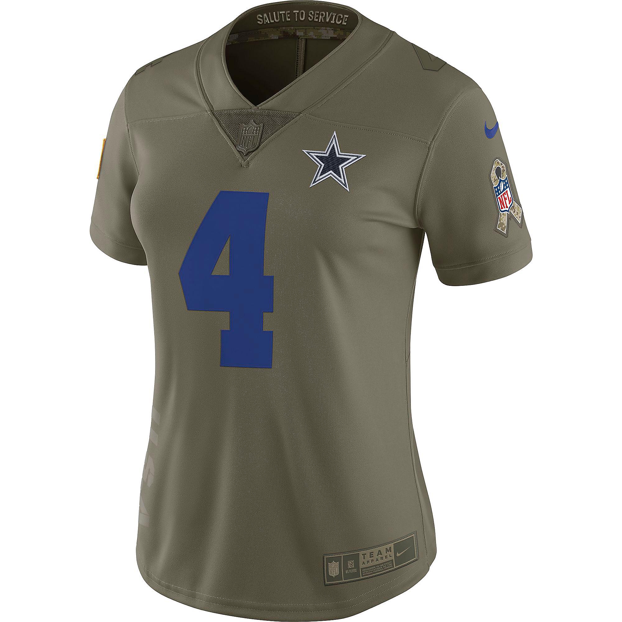 quality design 32a32 198de Dallas Cowboys Womens Dak Prescott #4 Nike Limited Salute To Service Jersey  | Dallas Cowboys Pro Shop