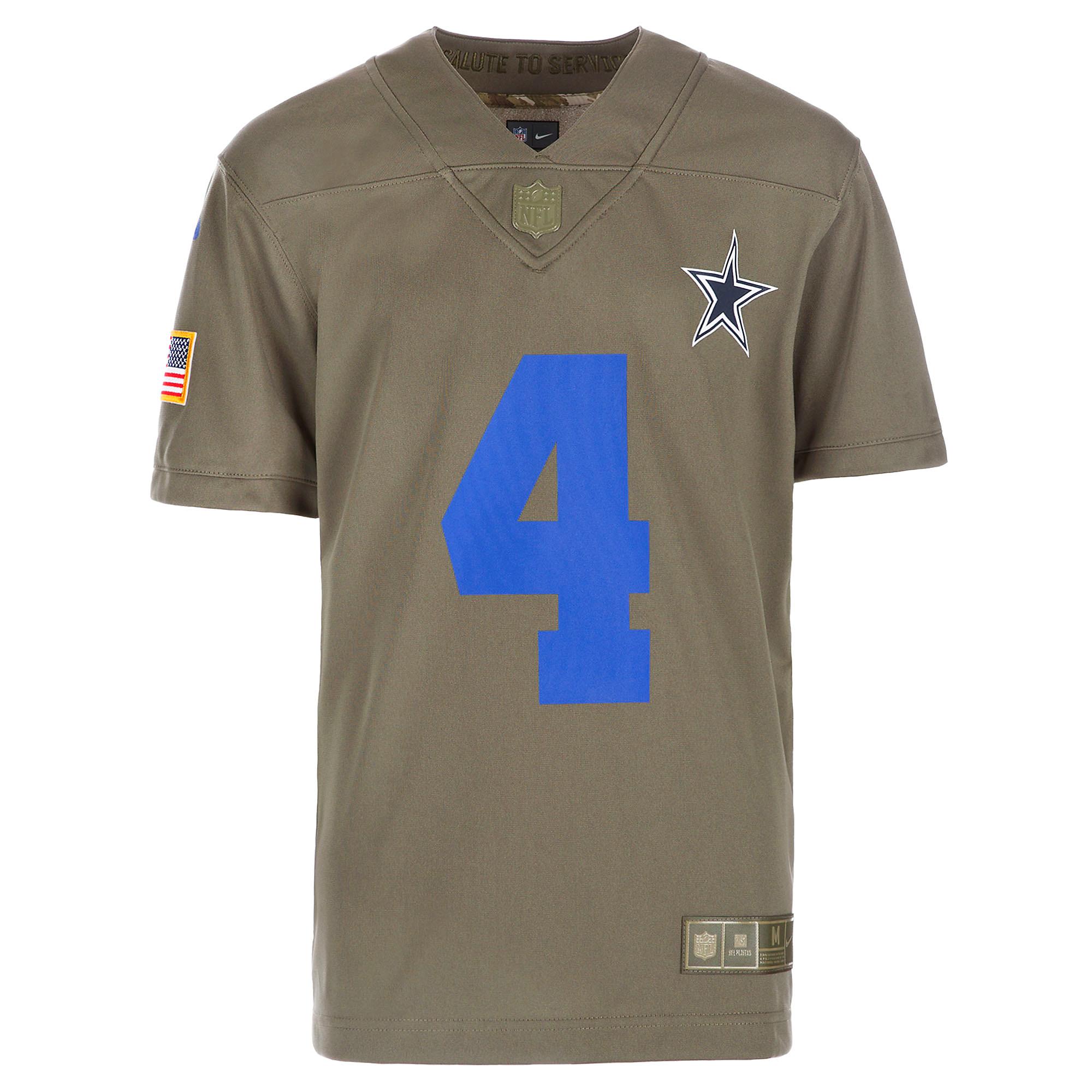 new concept 23e43 0168c Dallas Cowboys Youth Dak Prescott #4 Nike Limited Salute To ...