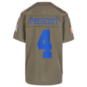 Dallas Cowboys Youth Dak Prescott #4 Nike Limited Salute To Service Jersey