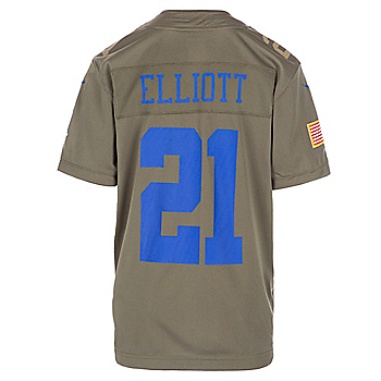 Dallas Cowboys Youth Ezekiel Elliott #21 Nike Limited Salute To Service Jersey