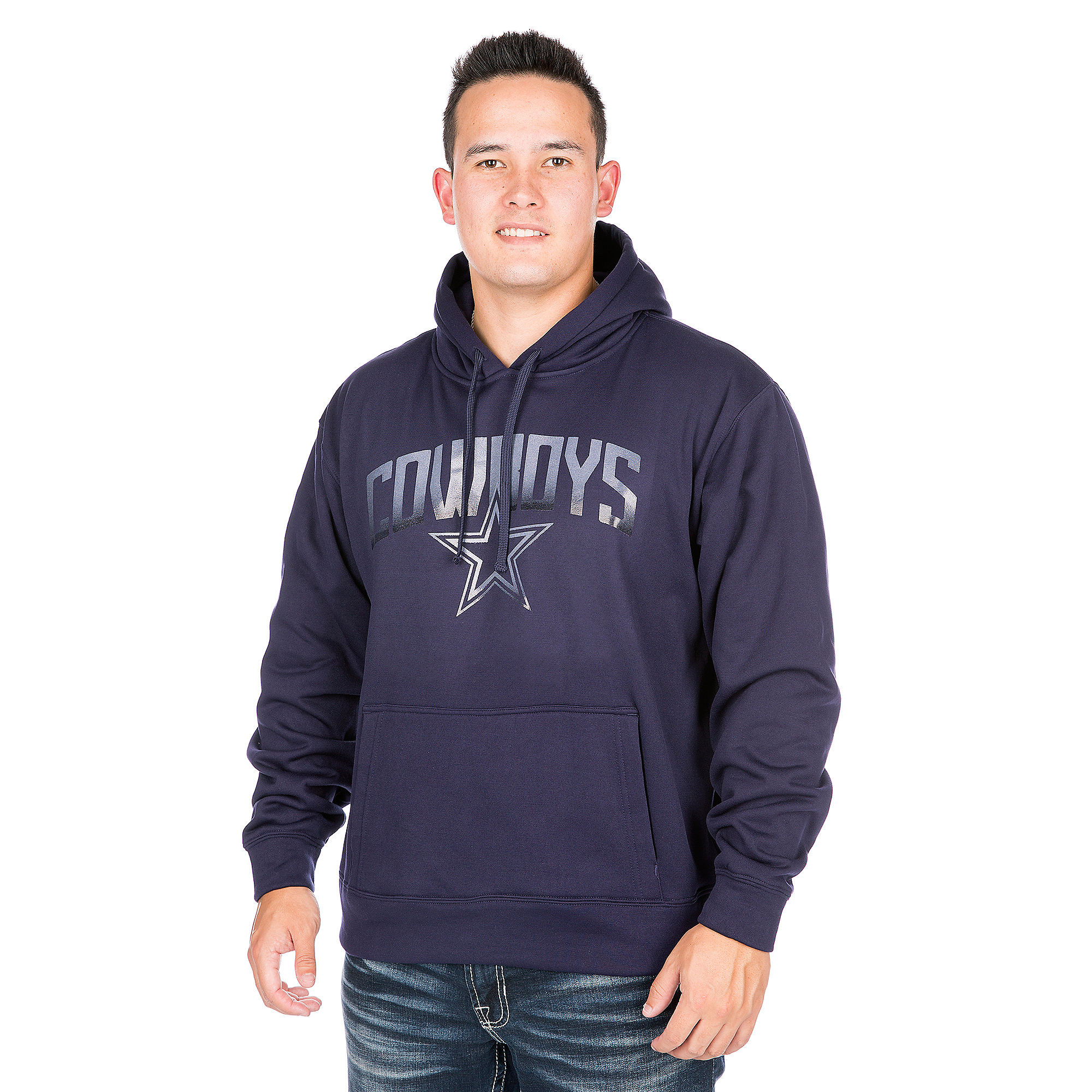 Dallas Cowboys Rescender Solid Pullover Hoodie
