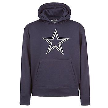 Dallas Cowboys Youth Logo Premier Performance Hoodie