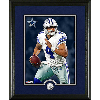 Dallas Cowboys Dak Prescott Canvas Print Frame