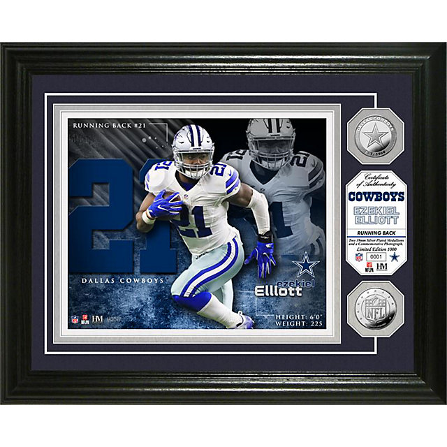 Dallas Cowboys Ezekiel Elliott Photo Mint Frame