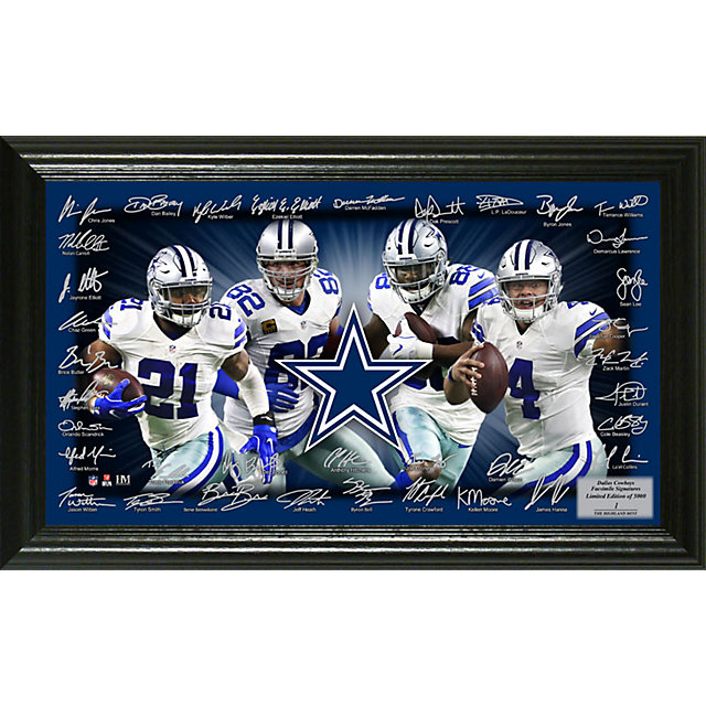 Dallas Cowboys Signature Gridiron Photo Mint Frame