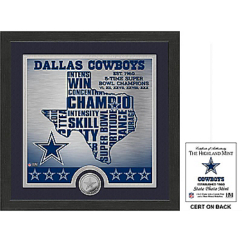 Dallas Cowboys State Photo Mint Frame