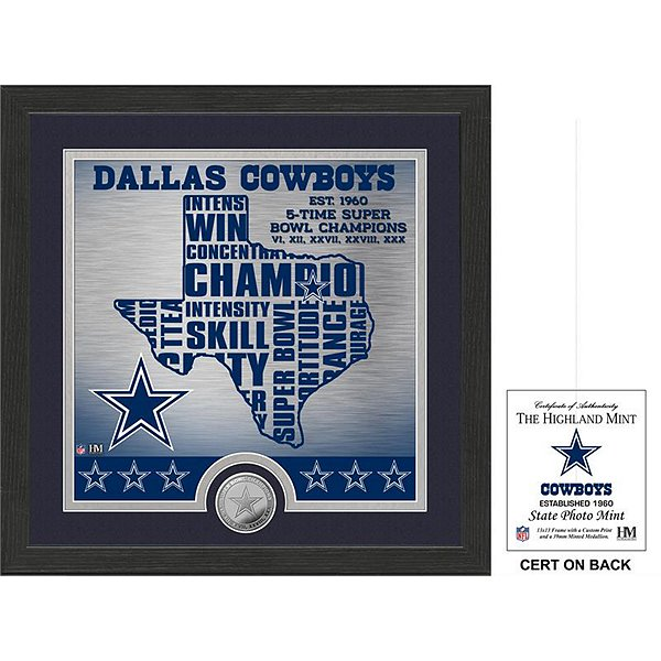 Dallas Cowboys State Photo Mint Frame