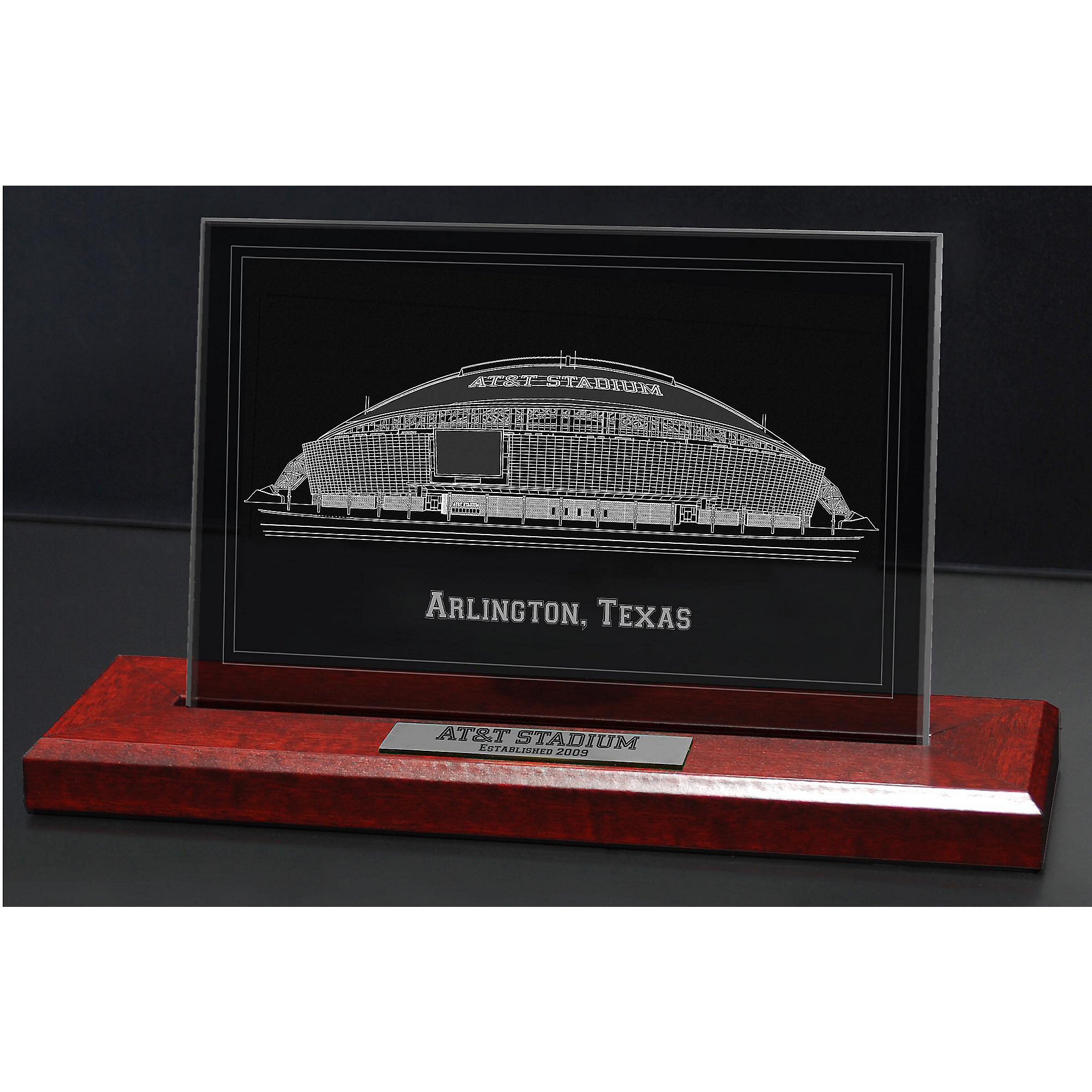 Dallas Cowboys Archival Etched Glass