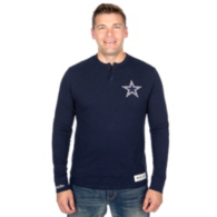 Dallas Cowboys Mitchell & Ness First Round Pick Long Sleeve Henley Tee