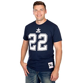 Dallas Cowboys Mitchell & Ness Emmitt Smith #22 Name & Number Tee