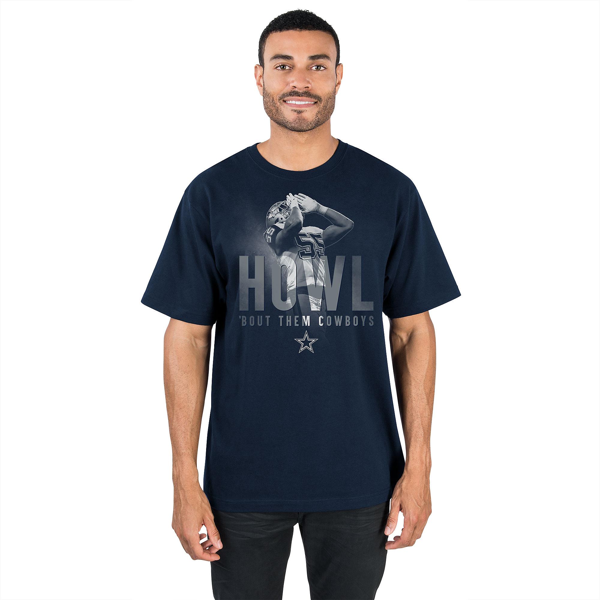 Dallas Cowboys Leighton Vander Esch Howl Bout Them Cowboys Tee