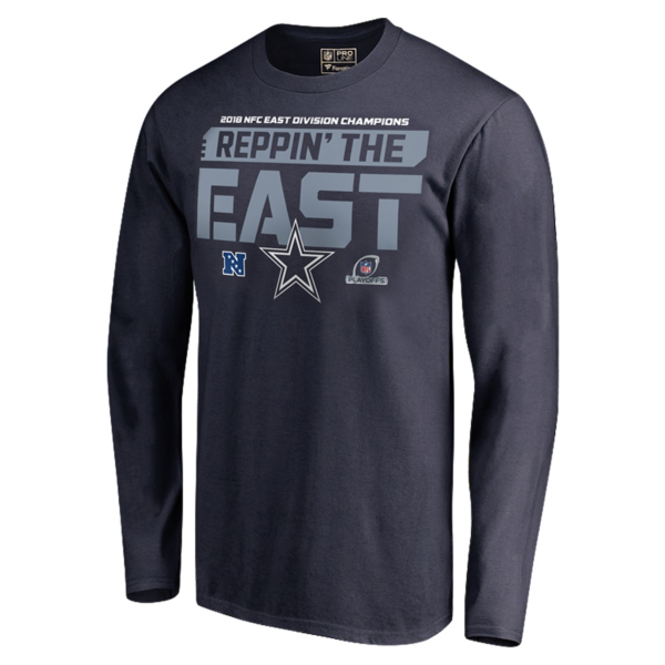 Dallas Cowboys 2018 NFC East Division Champs Long Sleeve T-Shirt