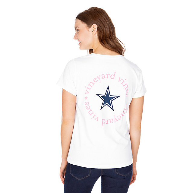 Dallas Cowboys Vineyard Vines Womens Circle Text Short Sleeve Tee