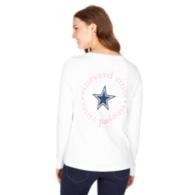Dallas Cowboys Vineyard Vines Womens Circle Text Long Sleeve Tee