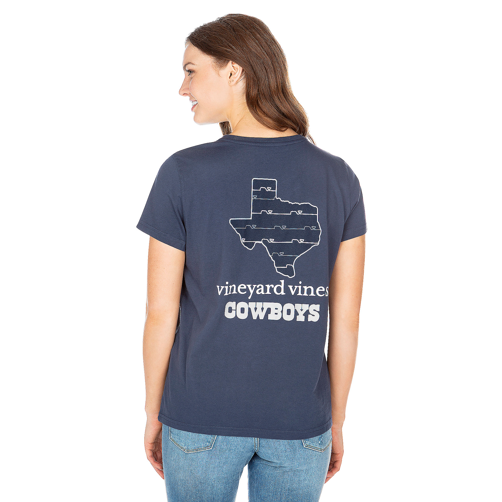 Dallas Cowboys Vineyard Vines Womens State Short Sleeve Tee