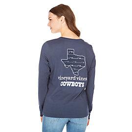 Dallas Cowboys Vineyard Vines Womens State Long Sleeve Tee